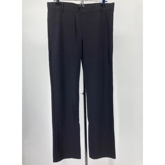 Betabrand Dress Pant Straight Leg Classic Black